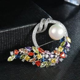 Czerwony drzewa moda kryształ broszki i szpilki biżuteria dla kobiet prezent urodzinowy wysokiej Quality Box pakiet