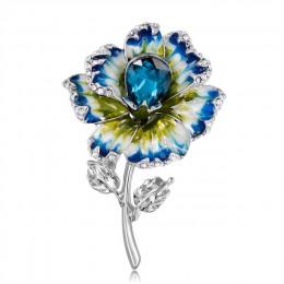 Elegancki Rhinestone słonecznik broszka emalia szpilki i broszki dla kobiet szkło metalowy kwiat bukiet roślin broszka biżuteria