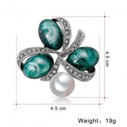 W stylu Vintage perła kamień naturalny agat broszki dla kobiet kryształ broszka Pins kobiet broszka dla bukiety ślubne biżuteria