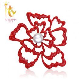 [Nimfa] perła broszki duże naturalne słodkowodne broszki perła biżuteria grzywny biżuteria czerwony ślub dla kobiet B02