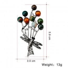 Antyczne indyjski agat koraliki broszka kolorowe Retro oddział Pin broszka z Dragonfly wzór kobiety karneol Xmas prezent biżuter