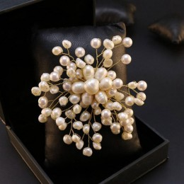 GLSEEVO naturalne wody słodkiej perła baroku płatek śniegu broszki dla kobiet Party broszka ślubna szpilki luksusowe Handmade bi