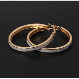 W stylu Vintage złoty kolor duże okrągłe kolczyki koła dla kobiet Steampunk ucha klip Party prezent akcesoria biżuteryjne e047