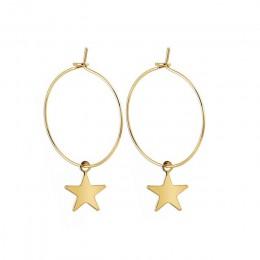 Trendy złoty kolor mała gwiazda Hoop kolczyki dla kobiet 2019 Ear Piercing Huggie kolczyki proste biżuteria Bijoux Brincos