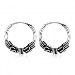 W stylu Vintage Aretes srebrne okrągłe kolczyki miłośnicy koło kolczyki kolczyk kolczyki dla kobiet głowy do paznokci pierścionk