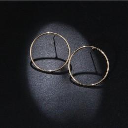 RscvonM nowy proste koreański moda Aros kolczyki duże koła dla kobiet geometryczne Ear obręcze kolczyk Brincos biżuteria prezent