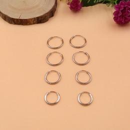 Kolczyki damskie małe kółka metalowe okrągłe kobieta