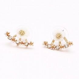 1 sztuk sprzedać za uszami Wings luksusowe kolczyki Hoop dla kobiet okrągłe z sześciennych zawieszka z cyrkonią kwiat kolczyki k