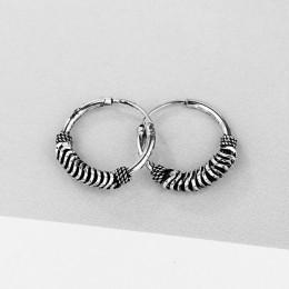 GEOMEE 1 para 15mm Vintage kolczyki małe kółka kobiet biżuteria ucha europejskiej Tribal koło kolczyki Handmade Argola Brincos E