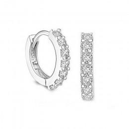 LNRRABC Hot euroamerykańskiej srebrzysty Huggies kolczyki małe okrągłe Hoop kolczyki damskie Hot moda biżuteria błyszczący preze