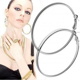 Huang Neeky wysokiej jakości 1 para duży gładkie duże uszy pierścień jasne koło okrągły Hoop magiczne kolczyki wspaniały prezent