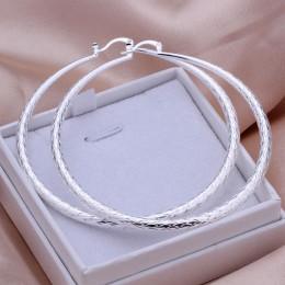 Hot! 925 biżuteria posrebrzane kolczyki, moda biżuteria dla kobiet, Yu Wen okrągły kolczyk-duży/DLJIPMYX TVBPWBNI