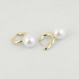 Peri's box barokowy biały szary kolor perły Hoop kolczyki dla kobiet nowoczesne kolczyki do uszu francuski panny młodej Huggie k
