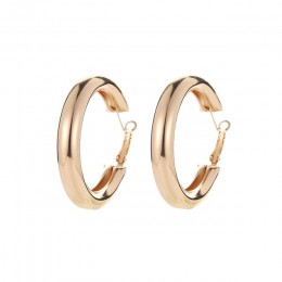 Punk geometryczne duże okrągłe kolczyki koła dla kobiet moda biżuteria ucha hiperbola Brincos pierścionki kolczyki Amrican i eur