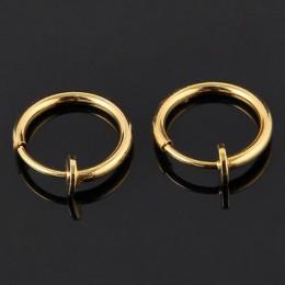 Nowy 2 sztuk niewidoczne bez otworu ucha kolczyki klip kolczyk w nosie brzucha pierścionek dla Unisex Punk wiatr akcesoria
