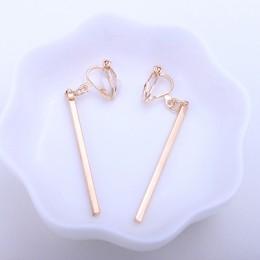 Blaszka klip na kolczyki kobiety moda bez otworu na ucho kolczyk modny prosty styl złoty kolor geometryczny klipsy CE18