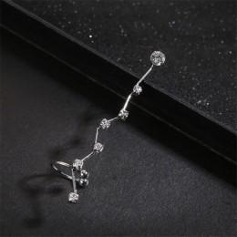 1 jednostka moda srebrny złoty kryształowa nausznica Piercing klip na kolczyki urok biżuteria bijoux Boucle D'oreille klip dla k