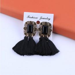 Nie przebili czeski etniczne długie, ręcznie robione sprawozdania Tassel klip na kolczyki dla kobiet w stylu Vintage plac popula