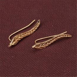 KISSWIFE moda osobowość Metal liść proste ucho Sweep Wrap srebrny złoty ucha Climber liści klip ucha mankiety kolczyki dla kobie