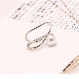 Temperament proste symulowane perły kryształowe gwiazda serce księżyc nausznica z klipsem kolczyki dla kobiet moda biżuteria nie