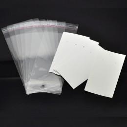 Doreen Box hot-100 zestawów zaczepy na ucho kolczyk wyświetlacz karty 9 cm x 5 cm W/torebeczki samoprzylepne 15 cm x 6 cm (B1868