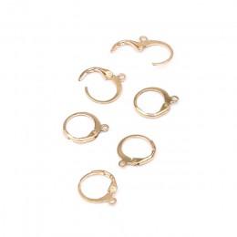 Nowy 10 sztuk/partia zaczep na ucho antyalergiczne kolczyki w uszach zatrzaski i haki materiał DIY biżuteria akcesoria ustalenia