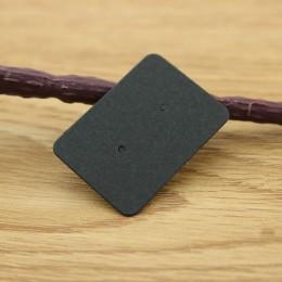 100 sztuk 2.5x3.5 cm papier typu Kraft kolczyki do uszu karty powiesić Tag biżuteria wyświetlacz kolczyk ulubiony znakowanie cen