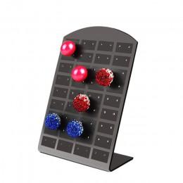36 para 72 otwory/zestaw czarne plastikowe stojak na biżuterię organizator kolczyki do uszu stojak Showcase biżuteria stojak dla