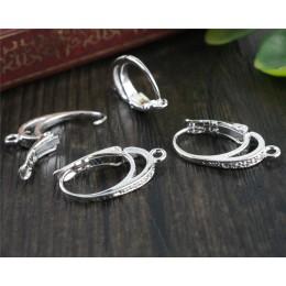 6 sztuk (3 para) 20x11mm jasny srebrny ucha haki kolczyk przewody do Handmade kobiety moda biżuteria kolczyki (T6-03)
