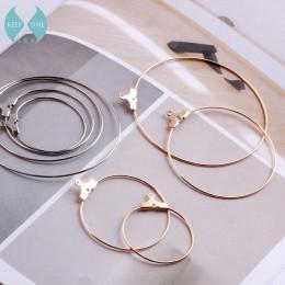 Miedź minimalistyczny diy okrągły koło stadniny kolczyki kolczyki uszy zwisają kolczyk ręcznie robione akcesoria materiał tassel