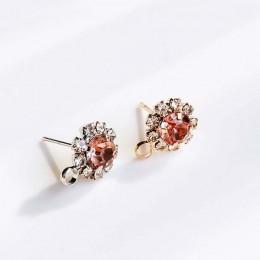ZEROUP Rhinestone biały K złota powlekane kolczyki sztyfty 4 kolory akcesoria do uszu biżuteria składnik Diy materiał Handmade 6