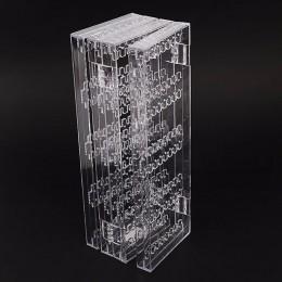 Jasne akrylowe kolczyki kolczyki do uszu naszyjnik wielofunkcyjny plastikowy składany ekran kolczyk biżuteria wyświetlacz stojak