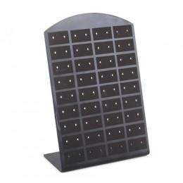 36 par/zestaw czarne plastikowe stojak na biżuterię organizator kolczyki kolczyki do uszu stojak Showcase biżuteria stojak dla k