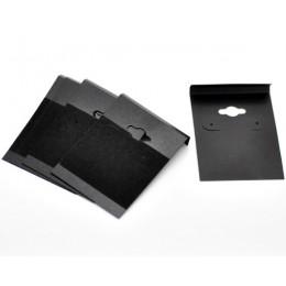 """DoreenBeads czarny ucha haki kolczyk z tworzywa sztucznego wyświetlacz karty 6.2x4.5 cm (2-1/2 """"x1-3/4 """"), 50 sztuk (B16649), yi"""