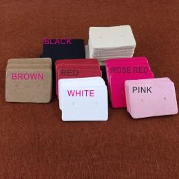 3.5*2.5 cm 100 sztuk/partia Kraft papierowe kolczyki do uszu powiesić Tag biżuteria karta kolczyki Kraft etykieta papierowa kolc