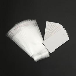 8 sezonów 100 zestawów zaczepy na ucho kolczyk wyświetlacz karty 9 cm x 5 cm W/torebeczki samoprzylepne 15 cm x 6 cm (B18687)