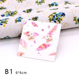 Gorąca sprzedaż 30 sztuk/partia 6x6 cm papierowe kolczyki karty wielu wzorów kolczyki do uszu naszyjnik wyświetlacz opakowania k