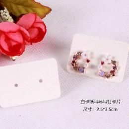 Nowy produkt 100 sztuk 2.5x3.5 cm papier typu Kraft kolczyki do uszu karty powiesić Tag biżuteria wyświetlacz kolczyk karty Favo