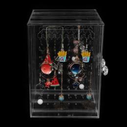 Przezroczysty akryl kolczyk stojąca półka wysokiej jakości biżuteria pudełko do przechowywania wyświetlacz Ear Stud biżuteria st