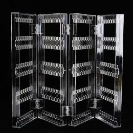 Akrylowe jasne kolczyki kolczyki do uszu naszyjnik wyświetlacz stojak wielofunkcyjny składany ekran kolczyk biżuteria wyświetlac