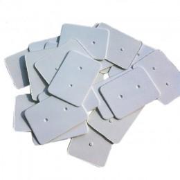 100 sztuk Kraft Paper Ear Stud powiesić Tag biżuteria karta kolczyki Kraft etykieta papierowa kolczyk papieru powiesić metka z c