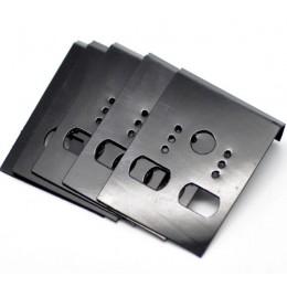 """Doreen Box hot czarny ucha haki kolczyk z tworzywa sztucznego wyświetlacz karty puste 4.2x3 cm (1-5/8"""" x1-1/8 """") darmowa wysyłka"""