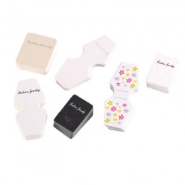 New Arrival 100 sztuk/partia 6 stylów haki kolczyk plastikowe kolczyki do uszu uchwyt biżuteria spinka do włosów karty graficzne