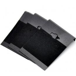 """DoreenBeads czarny ucha haki kolczyk z tworzywa sztucznego wyświetlacz karty 6.2x4.5 cm (2-1/2 """"x1-3/4 """"), 15 sztuk"""