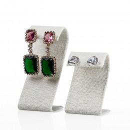 FANXI pościel/aksamit w kształcie litery Z kremowy biały kolczyk stojaki szary Ear Stud wyświetlacz uchwyt stojak na biżuterię w