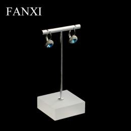 FANXI w kształcie litery T metalowe kolczyki wyświetlacz stojak uchwyt na biżuterię kolczyk-sztyft kolczyki wystawcy do sklepu l