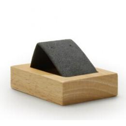 FANXI nowy ciemny szary lub beżowy stałe drewniane kolczyki stojak z wkładką z mikrofibry uchwyt na kolczyk Ear Drop organizator