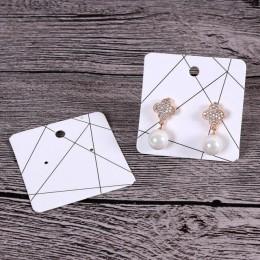 100 sztuk/partia 5x5 cm wielu wzory kolczyk karty moda biżuteria wyświetlacz organizator karty opakowania kwadratowe kolczyki ko