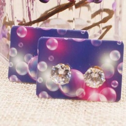 200 sztuk/partia 3.5*2.5 cm stadniny kolczyki pakiet kwiat/marbel wzór kolczyki do uszu karty Dreamcatcher biżuteria wyświetlacz