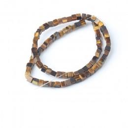LanLi moda biżuteria 4/6mm kwadratowy naturalne kamienie koraliki DIY mężczyźni i kobiety bransoletka naszyjnik kolczyki do uszu